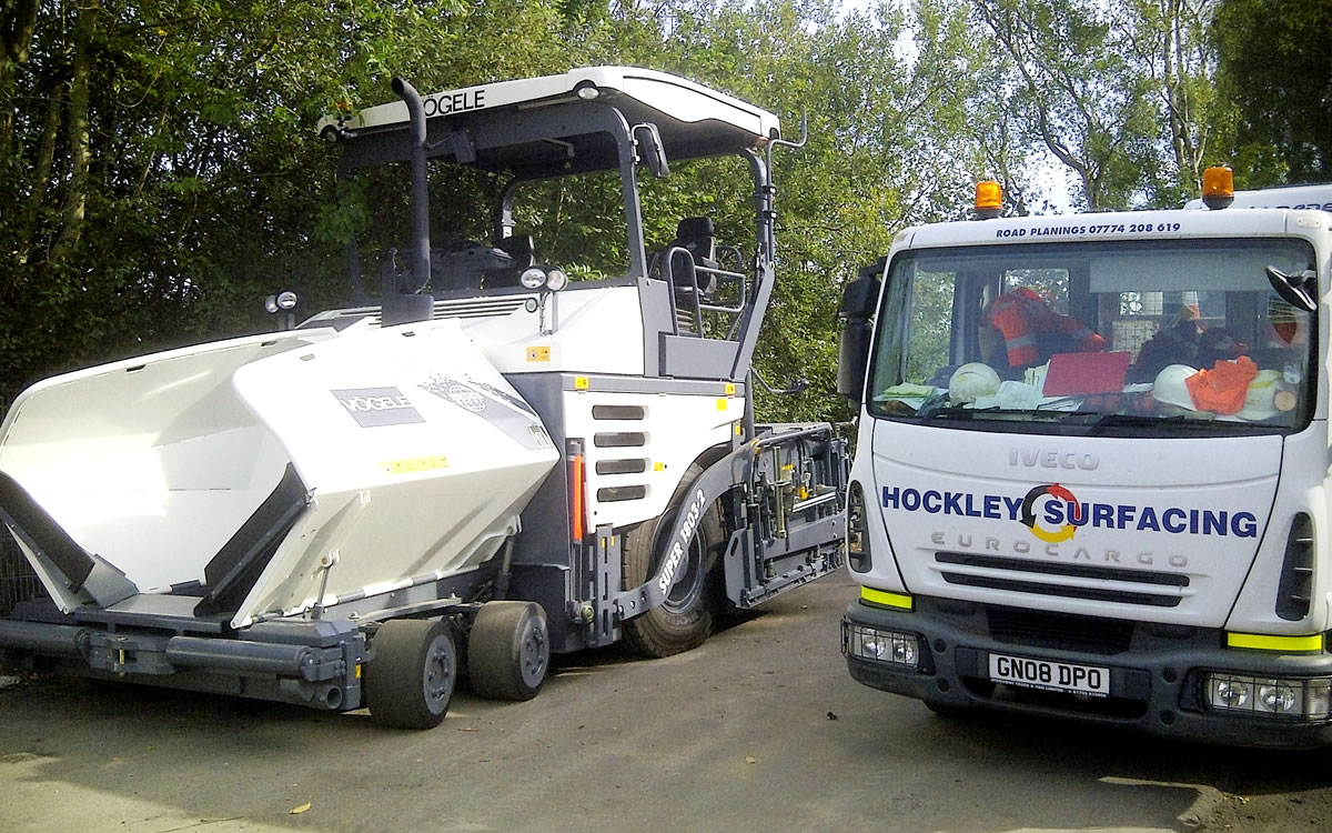 Some of the Hockley Surfacing fleet