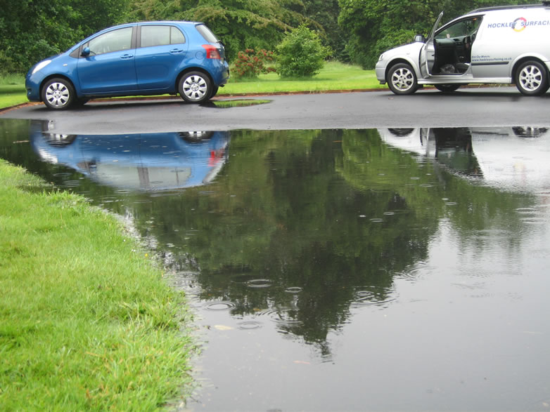 Car Park with drainage issue