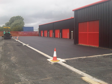 Car Park nearing surfacing finish