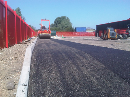 When creating the car park the surface is applied in even strips