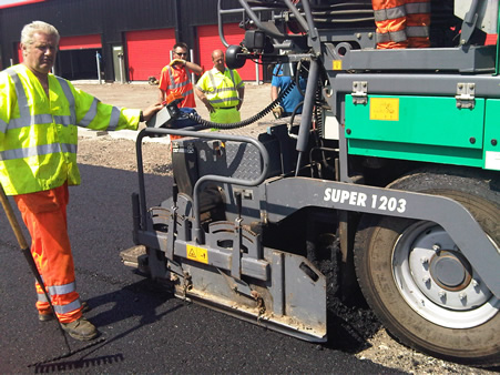 The Hockley Surfacing Limited team in action